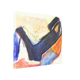 Modern Abstract  Expressionist Figure Gallery Wrapped Canvas