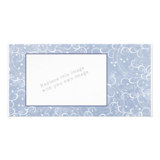 Modern abstract flower design customized photo card
