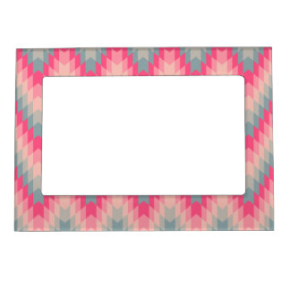 Modern Abstract Geometric Pattern Magnetic Picture Frame