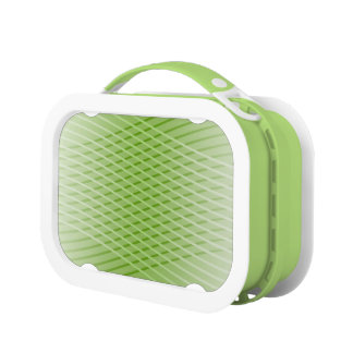 Modern Abstract Green Lines Lunch Boxes