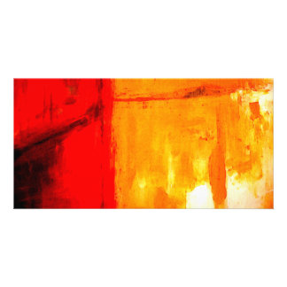 Modern Abstract Painting Photo Card Template