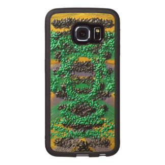 Modern abstract pattern wood phone case