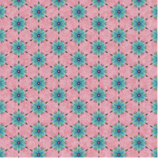 Modern abstract pink teal floral pattern. standing photo sculpture