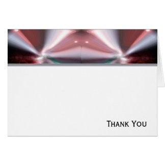 Modern Abstract Red Light Card