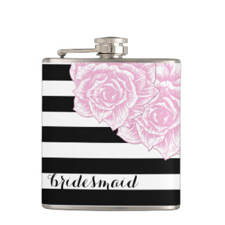 Modern and Chic Bridesmaid Flask