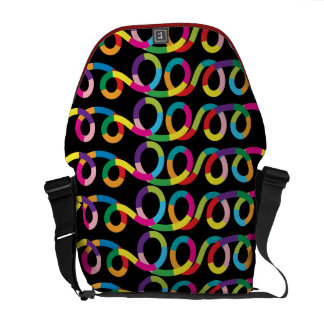 Modern and Colorful Loop Design Messenger Bags