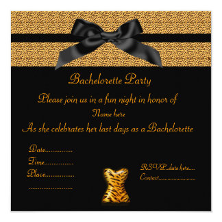 MODERN ANIMAL PRINT WITHY BOW BACHELORETTE INVITE