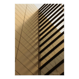 Modern architecture, yellow toned poster