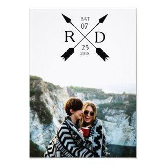 Modern Arrow | Save the Date | Photo Wedding Card