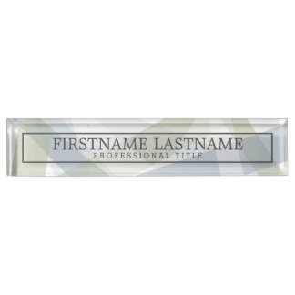 Modern Art Abstract with Name & Professional Title Nameplate