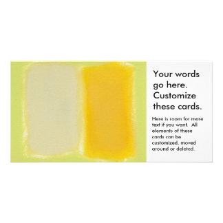 Modern art minimalist painting sunny warm colorful customised photo card