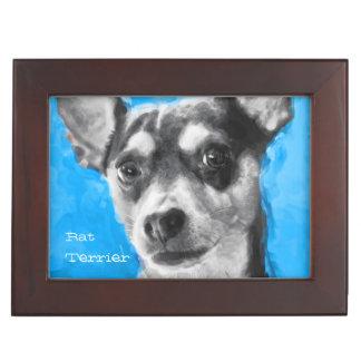 Modern Art Rat Terrier Keepsake Box