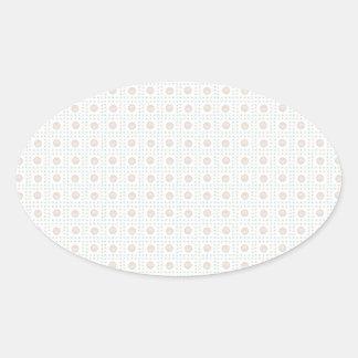 Modern Arty Polka Dots Oval Sticker