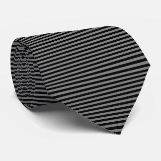 Modern Black and Gray Pinstripe Stripes Tie