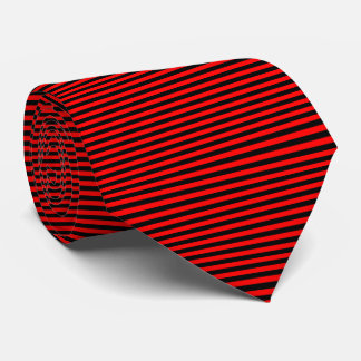 Modern Black and Red Pinstripe Stripes Tie