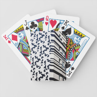 Modern black and white building in Hong Kong 2 Bicycle Playing Cards