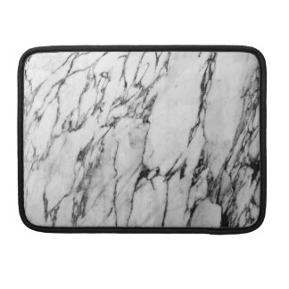 Modern Black and White Fashion Marble Pattern Sleeve For MacBooks