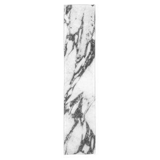 Modern Black and White Marble Stone Short Table Runner