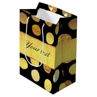 Modern Black Gold Foil Confetti Dots