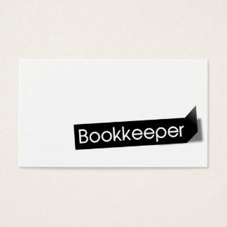 Modern Black Label Bookkeeping Business Card