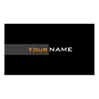 Modern Black Orange White Pack Of Standard Business Cards