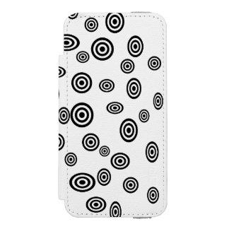 Modern black polka dots pattern incipio watson™ iPhone 5 wallet case