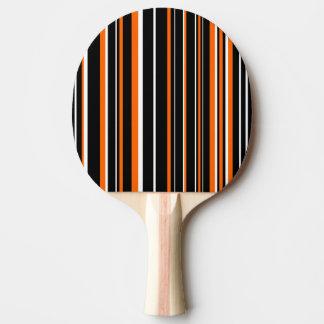 Modern Black, White, Orange Barcode Stripe