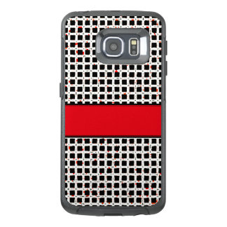 Modern Black White Red Pattern Chic OtterBox Samsung Galaxy S6 Edge Case