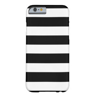 Modern Black White Stripes Pattern Barely There iPhone 6 Case
