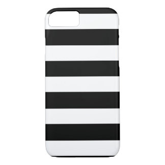 Modern Black White Stripes Pattern iPhone 8/7 Case