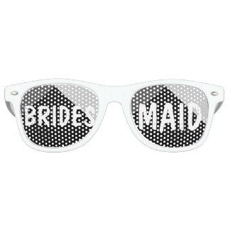Modern black white triangles colorblock Bridesmaid