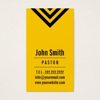 Modern Black & Yellow Pastor Business Card
