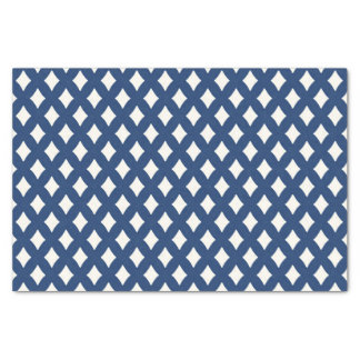 Modern Blue and White Diamond Tissue Paper