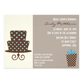 Modern Blue Brown Invitaiton Custom Announcements