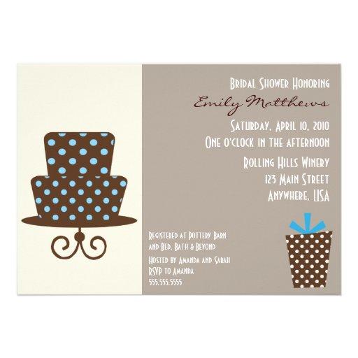 Modern Blue & Brown Invitaiton Custom Announcements