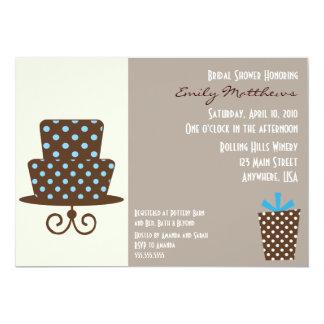 Modern Blue & Brown Invitaiton 13 Cm X 18 Cm Invitation Card
