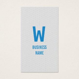 Modern Blue Monogram Optician Business Card
