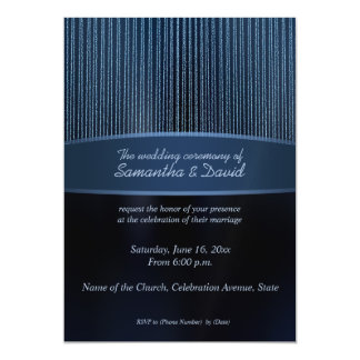 Modern blue sparkles magnetic Wedding invitations Magnetic Invitations