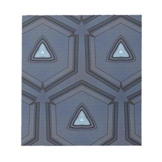 modern Blue Upwards Arrow Point Pattern Notepad