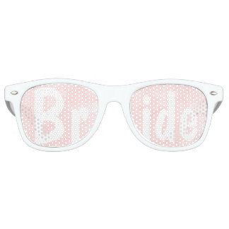 Modern blush pink watercolor wedding Bride Retro Sunglasses