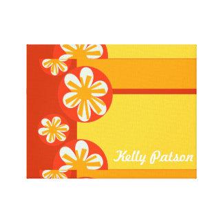 Modern Bold Cute  Summer Tropical Flower Canvas Print
