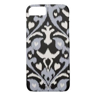 Modern bold grey black ikat tribal pattern iPhone 8/7 case