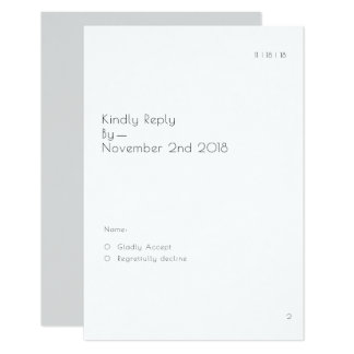 Modern Book Page RSVP Card