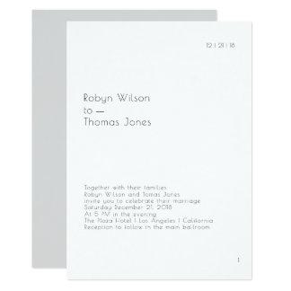 Modern Book Page Wedding Invitation 5x7