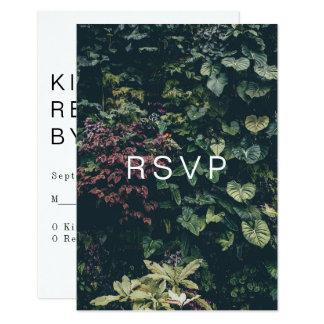 Modern Botanical RSVP: II Card