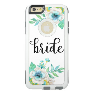 Modern Bride Script Vintage Floral Watercolor OtterBox iPhone 6/6s Plus Case