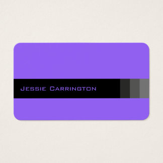 Modern Bright and Basic (Lavender) Business Card