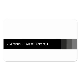 Modern Bright and Basic (White) Double-Sided Standard Business Cards (Pack Of 100)