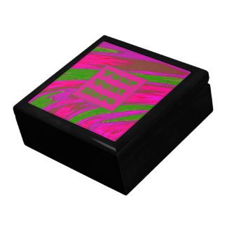 Modern Bright Pink Green Color Swish Gift Box