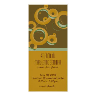 Modern Bubbles Event Schedule Rack Cards - Olive